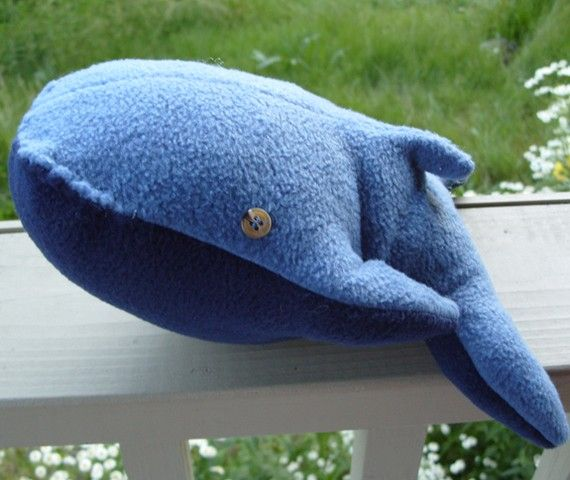 Whale Plush with Illustrated Science Card by LaBaleine on Etsy, $25.00