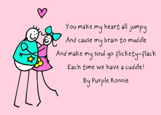 Cuddly poem by Purple Ronnie Poems by Purple Ronnie Pinterest ...