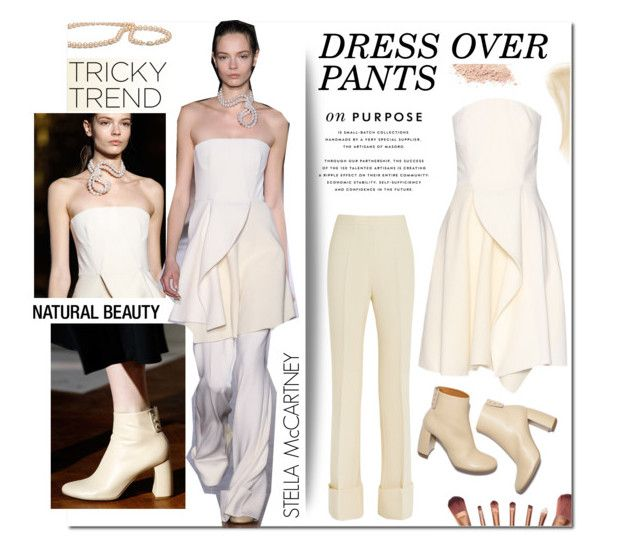 """""""Tricky Trend: Dress and Pants"""" by maris-go-round ❤ liked on Polyvore featuring STELLA McCARTNEY, Ilia, women's clothing, women's fashion, women, female, woman, misses, juniors and TrickyTrend"""