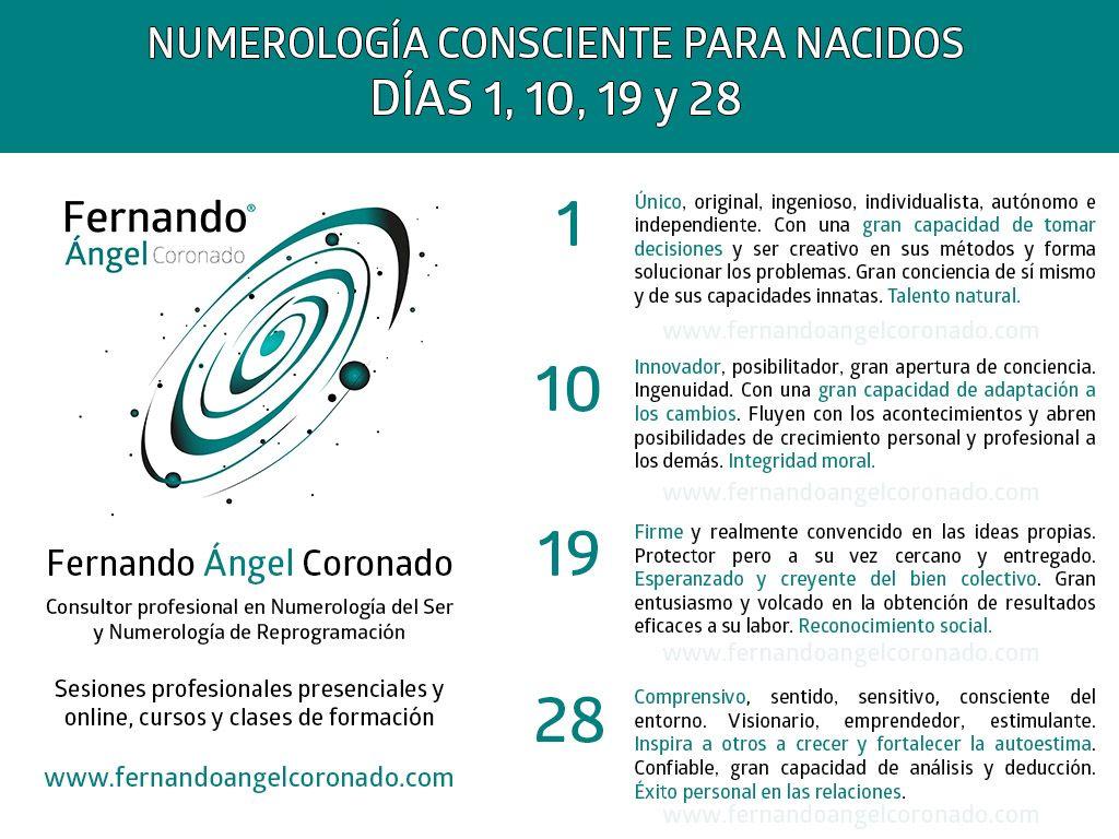Numerología En Español Para Nacidos Los Días 1 10 19 Y 28