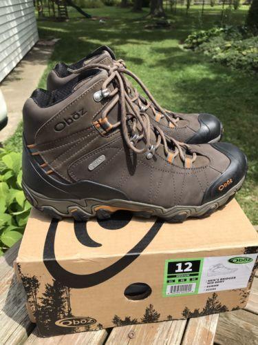 mens 181392 oboz s bridger mid bdry hiking boots size 12