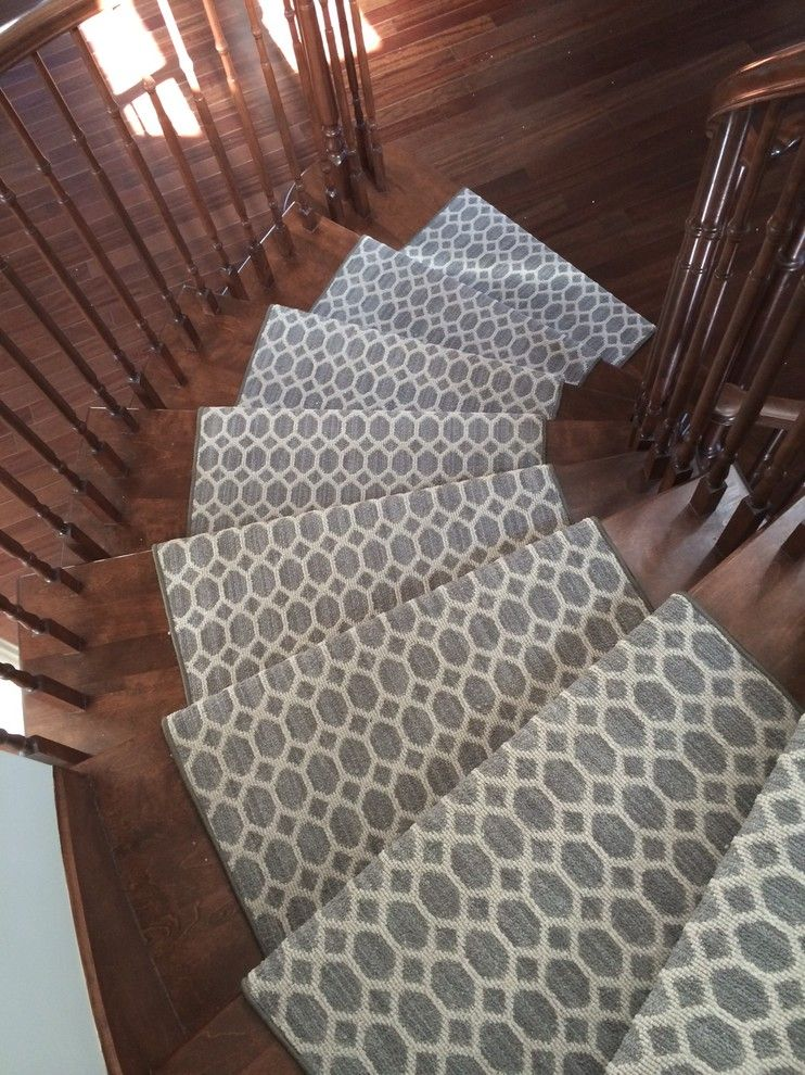 Modern Stair Runners Staircase Contemporary With Carpet Runner Custom Made