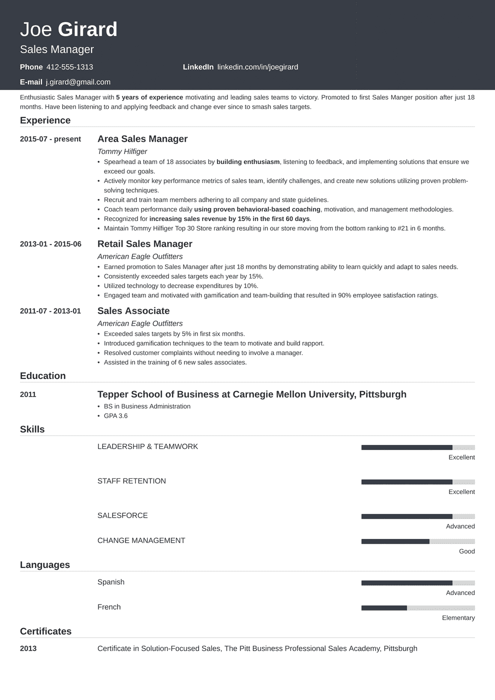 sales manager resume template influx in 2020 Manager