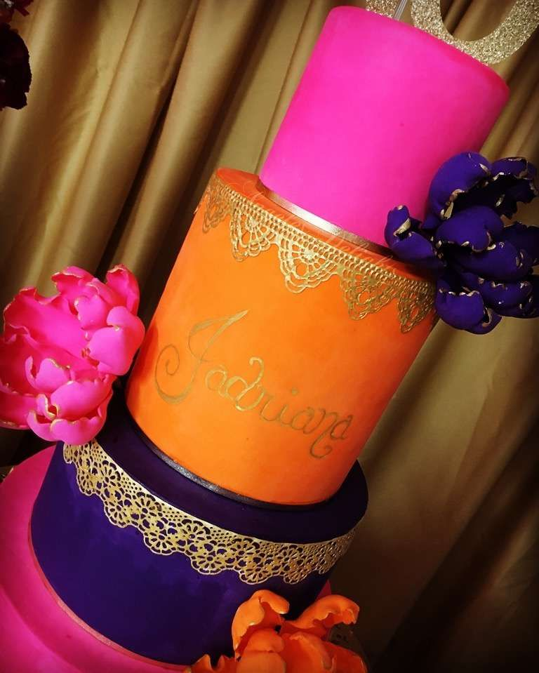 Stunning cake at a Moroccan birthday party! See more party ideas at CatchMyParty.com!