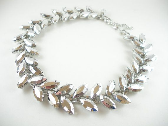 Hey, I found this really awesome Etsy listing at https://www.etsy.com/listing/226740517/chrome-faux-crystal-statement-necklace