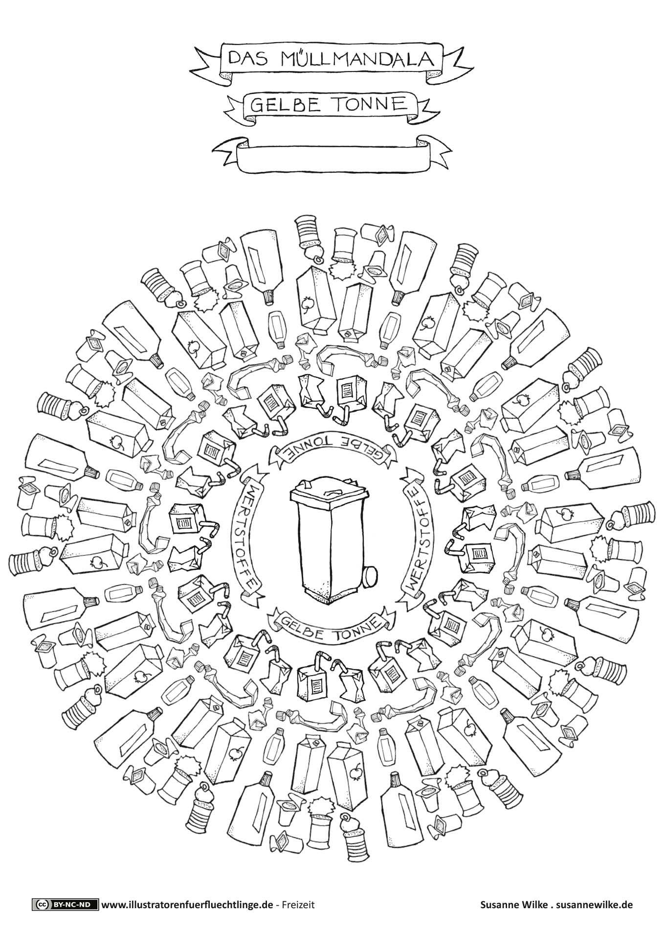 download als pdf leben und wohnen m ll m lltrennung gelbe tonne mandala arbeitsbl tter. Black Bedroom Furniture Sets. Home Design Ideas