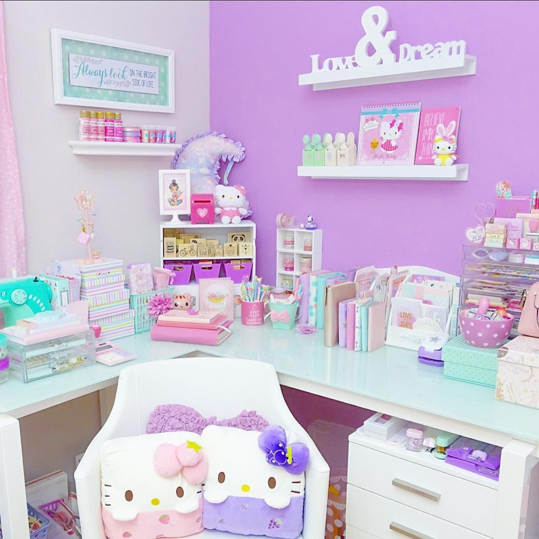 Décoration Chambre Kawaii Pin By Cr4yb0rg On Diy Home | Kawaii Bedroom, Pastel Room