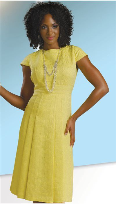Yellow Flare Church Dress By Chancelle - Divine Church Suits ...