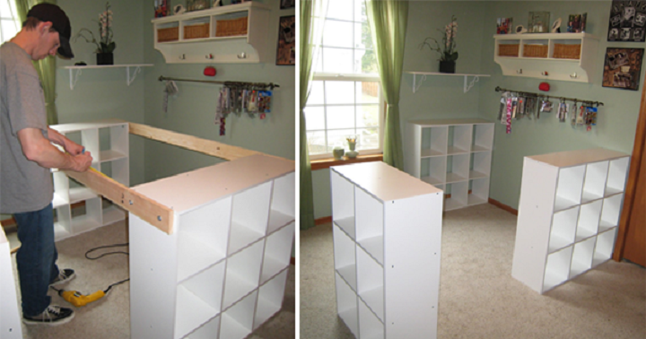 Schau Dir an, was dieser Mann aus 3 IKEA Regalen geschaffen hat – Seine Frau wird ihn dafür lieben