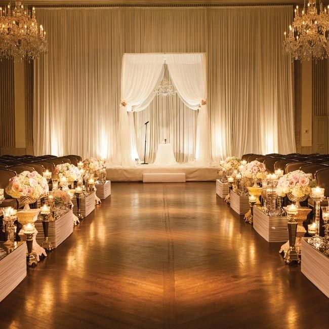 Indoor Wedding Reception Ideas: Indoor Ceremony // Photo By: North Shore Photography
