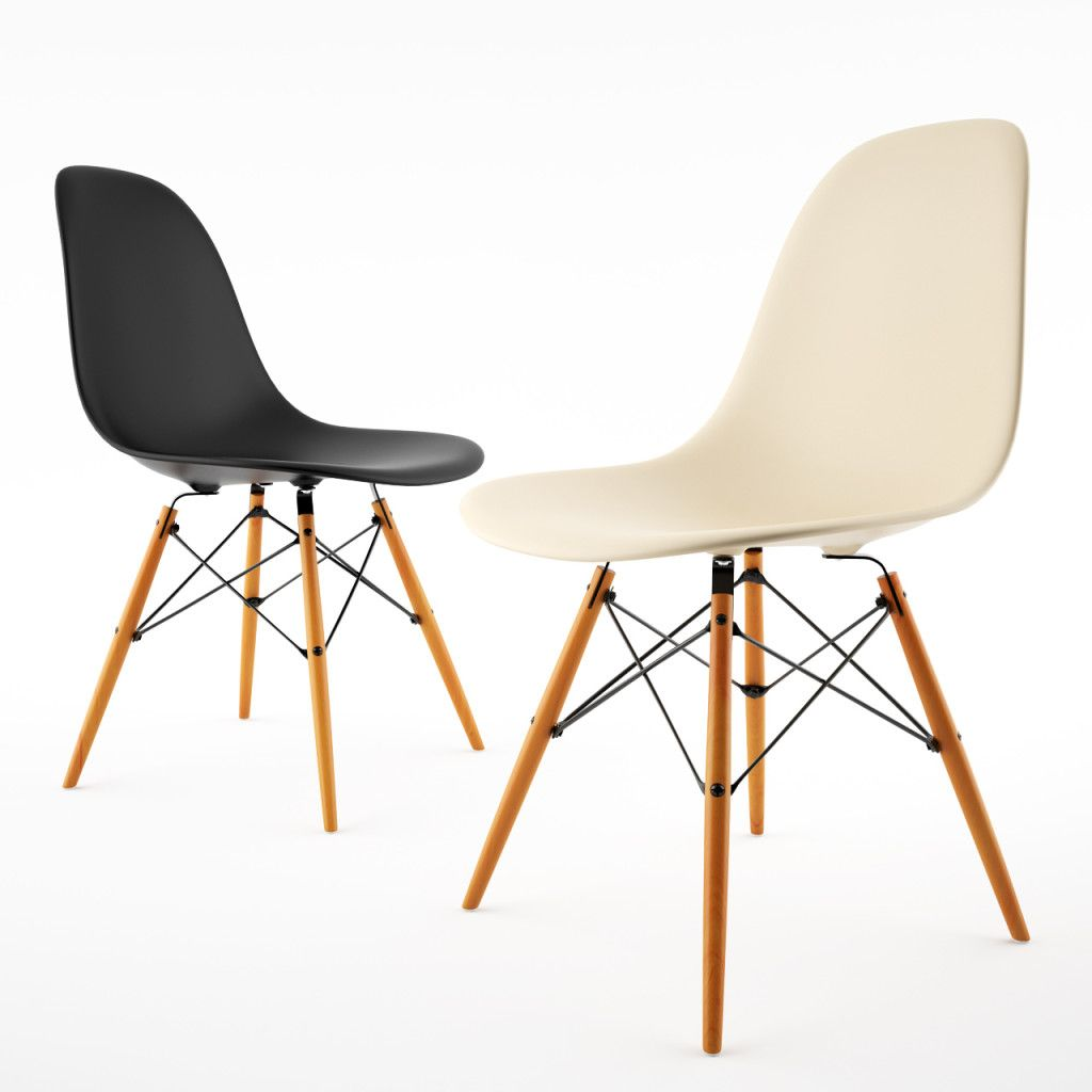 Delightful Side Chair By Vitra Eames