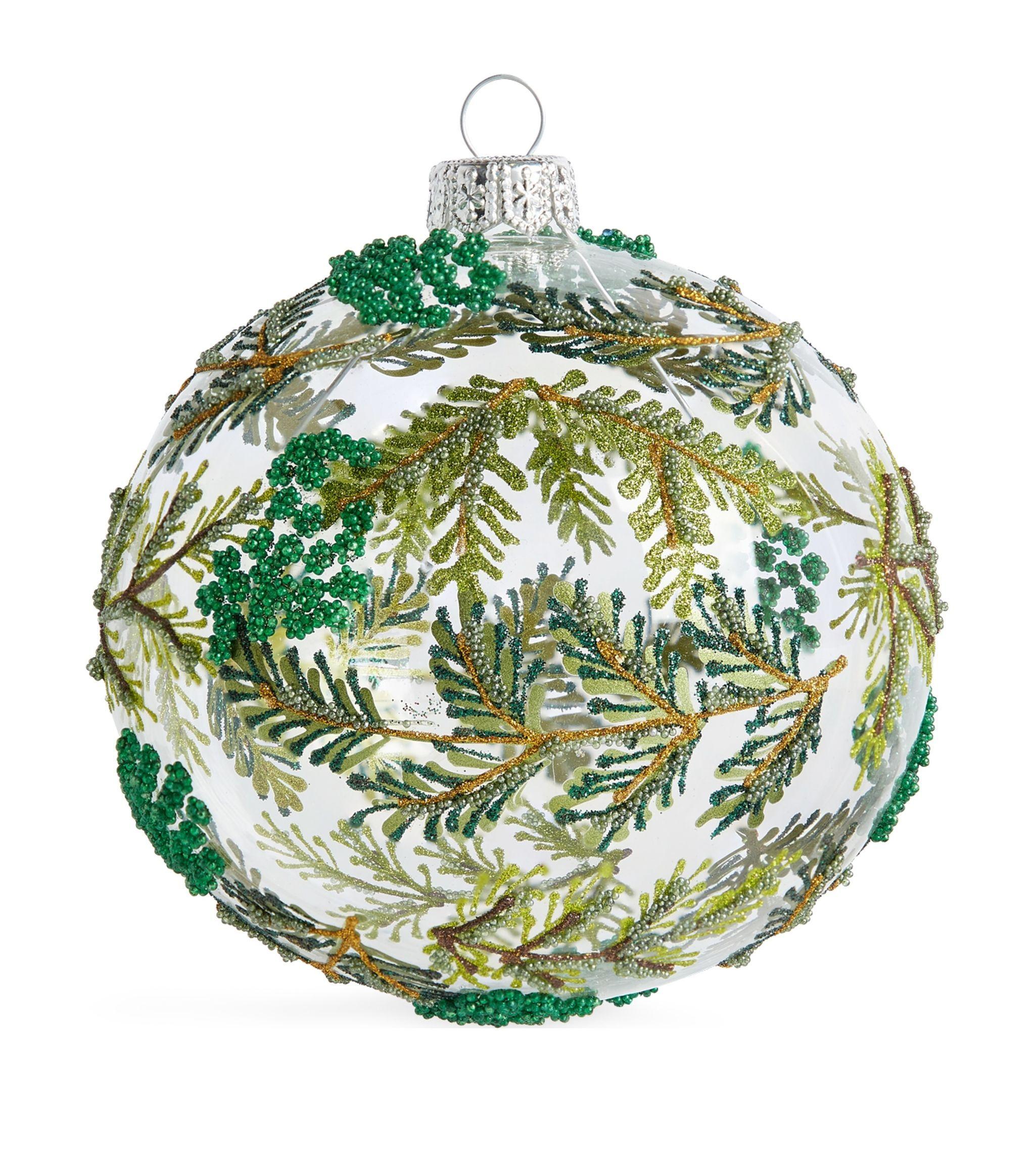Harrods Beaded Leaves Bauble Harrods Us In 2020 Beaded Leaf Harrods Christmas Christmas Tree Ornaments