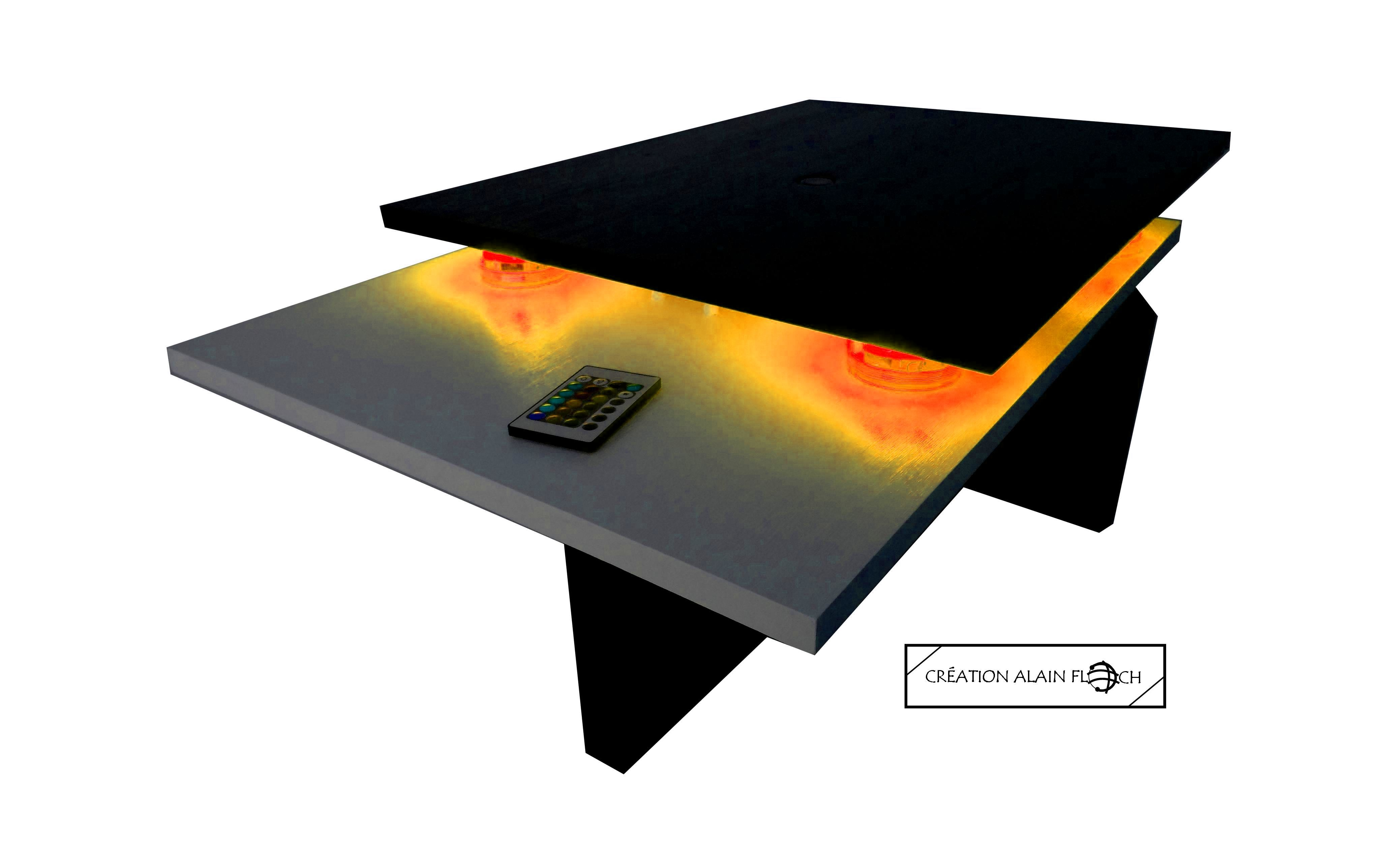 meilleures baskets 6170f b2a18 Table basse design futuriste SPATIALE 40 LED   Table basse ...