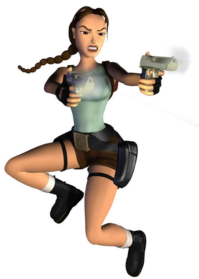 Lara Croft As She Appeared In The 1999 Pc Ps1 Game Tomb Raider