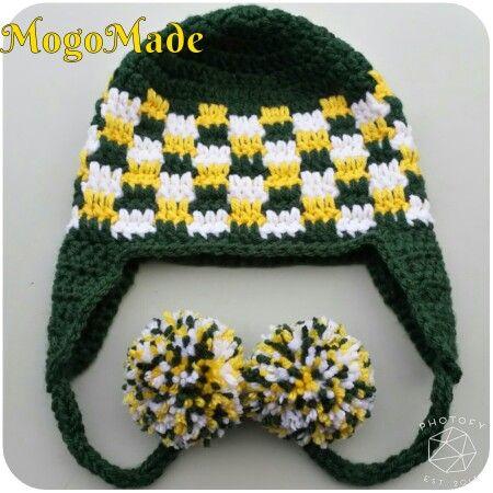 A Little Something To Deck Out A Mini Green Bay Packers Fan Mogomade Original Crochet Yarn Handmade Greenbay Crochet Kids Hats Crochet Baby Hats Crochet