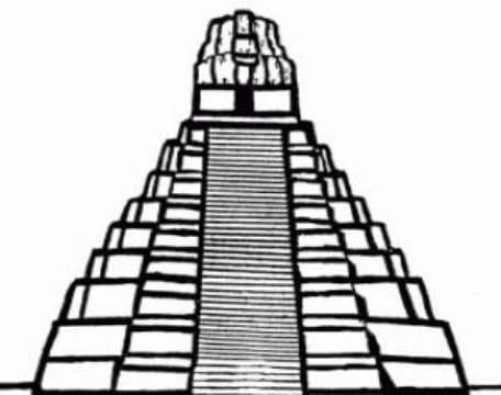 Dibujos De Piramides Mayas Para Colorear Dibujos Del Medio