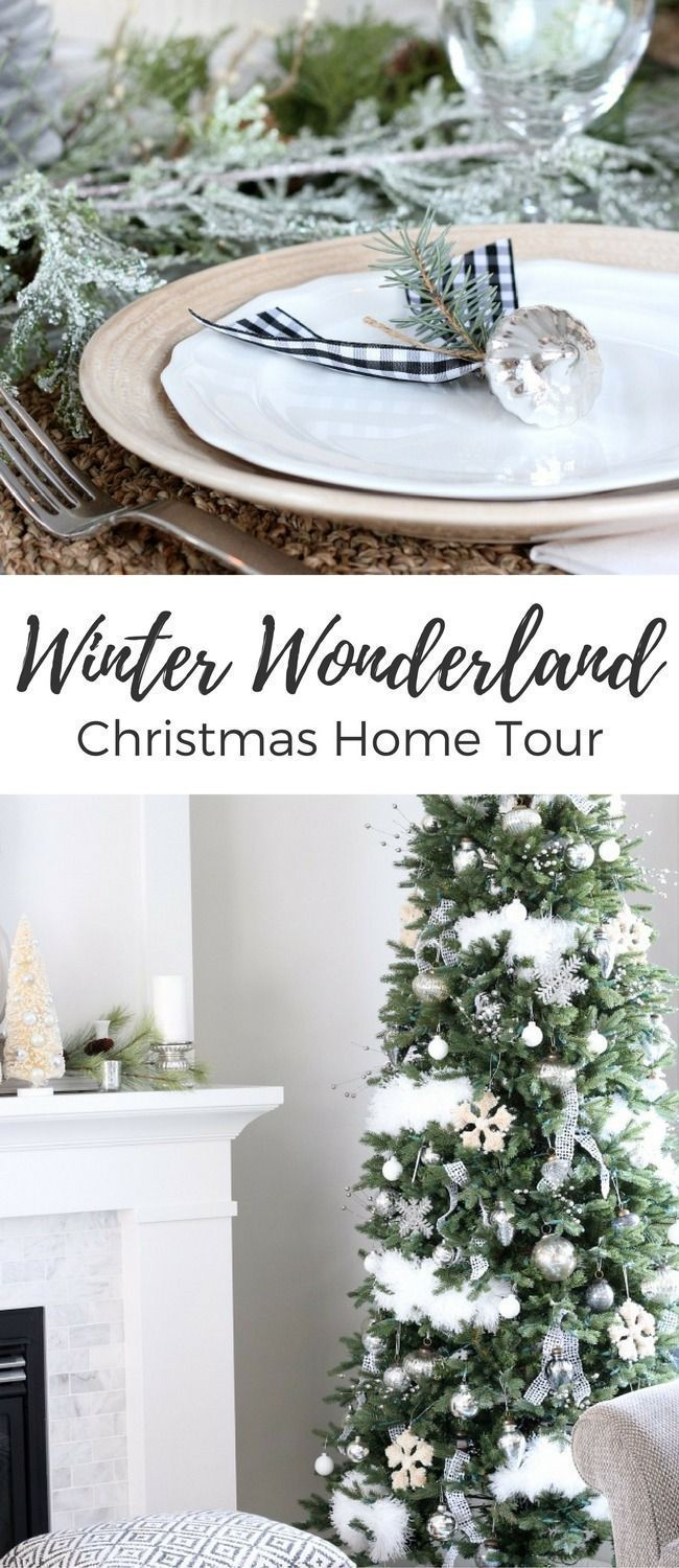 Canadian White Christmas Home Tour | Christmas décor, Holiday ...