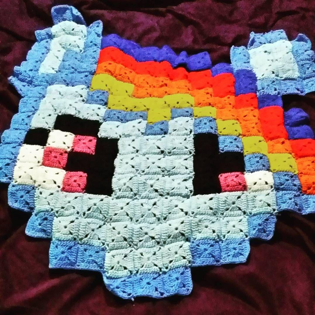Rainbow Dash My Little Pony Pixel Crochet Blanket By