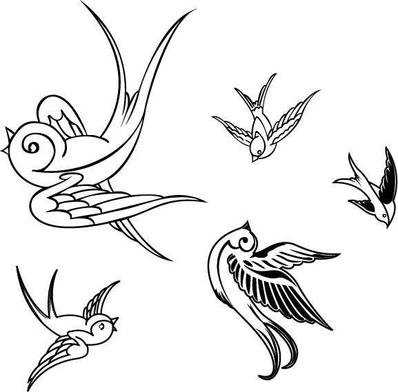 sparrow bird outline sparrow vector free vector download 28 files