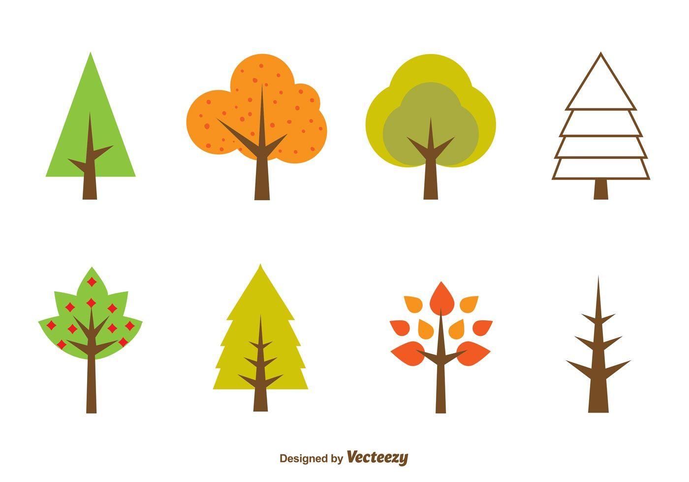 seasonal minimal tree vectors template pinterest minimal rh pinterest com tree vector art tree vector image