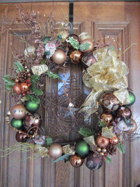 Cowboy Christmas Wreath by AlliRaeCrafts on Etsy, $155.00