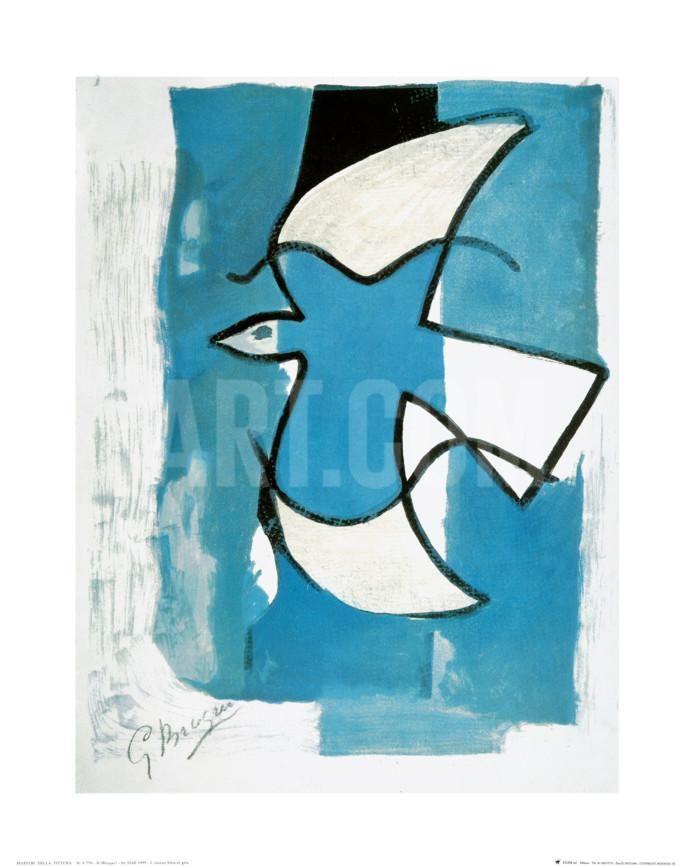 L'Oiseaux Bleu et Gris Art Print by Georges Braque at Art.com