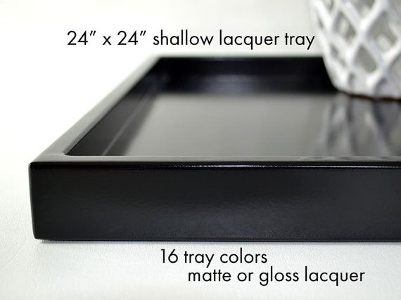 Fine 24 X 24 Large Ottoman Tray Shallow Modern Coffee Table Tray Ncnpc Chair Design For Home Ncnpcorg
