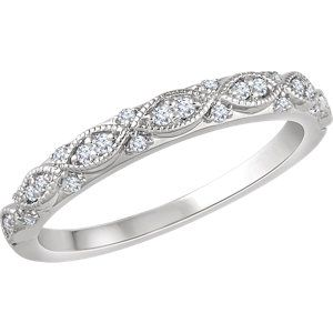 14kt White 1 8 Ctw Diamond Anniversary Band Diamond Anniversary Bands Anniversary Bands For Her Anniversary Rings For Her