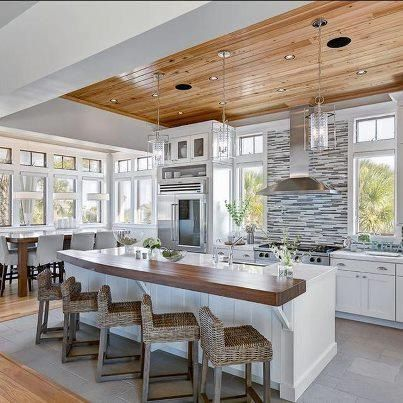 Nice White Kitchen With Lots Of Windows But Too Modern And