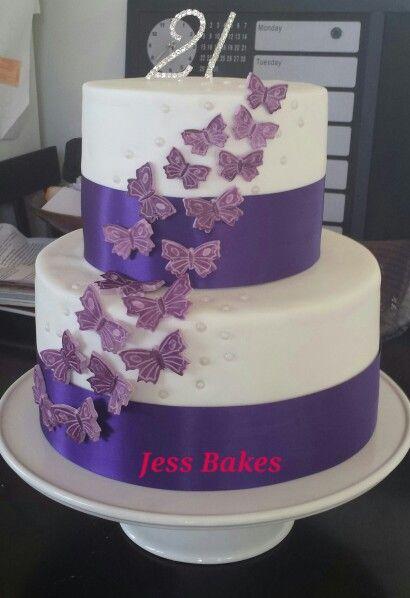 Jess Bakes ... purple butterfly 21st cake
