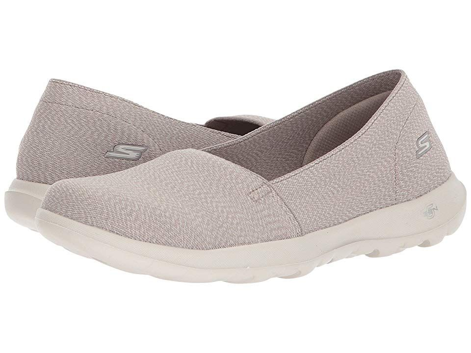 1dfe63b2996c SKECHERS Performance GOwalk Lite - Smitten (Taupe) Women s Flat Shoes. Take  ultimate style and comfort to your routine with the SKECHERS Performance  GOwalk ...
