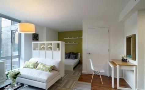 kleine wohnung einrichten einzimmerwohnung wohnideen wohnzimmer ...