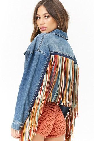 new styles classic style hot products Fringe Denim Jacket | Denim fashion, Denim ideas