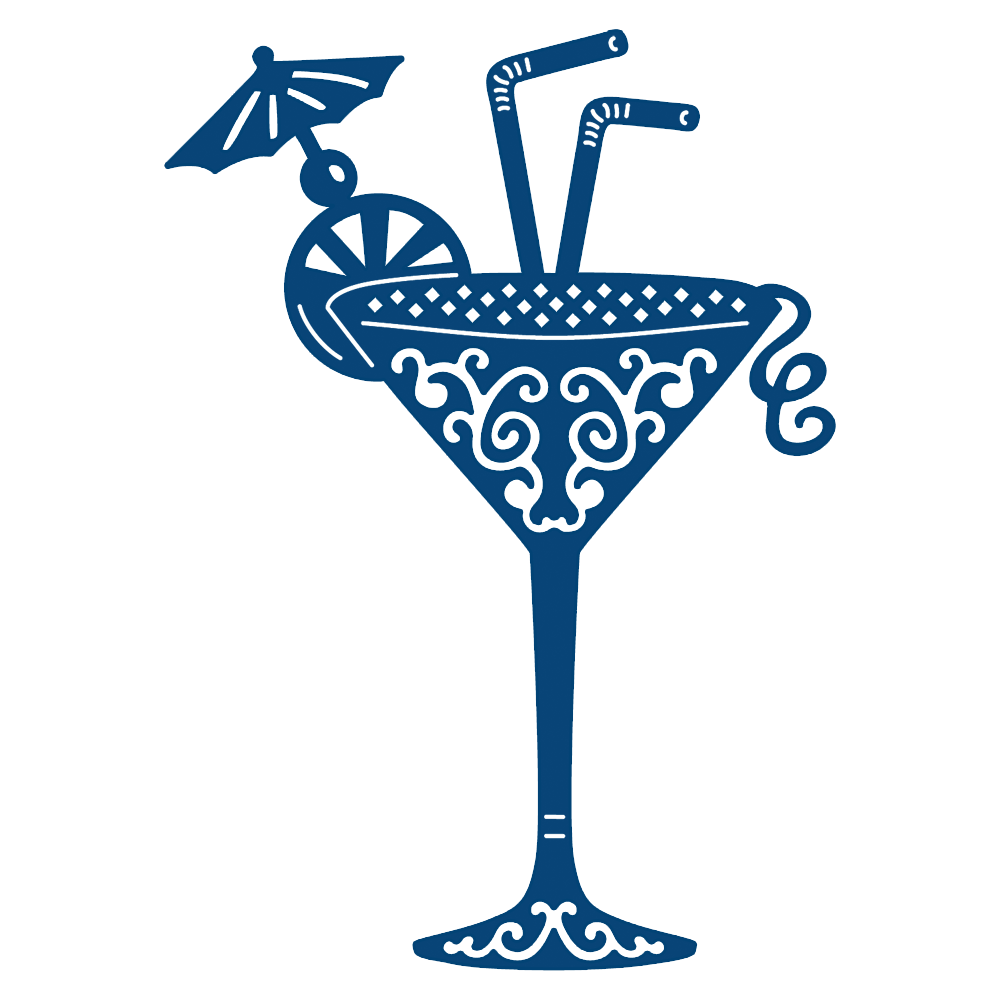 Tattered Lace Cocktail Glass Die Acd162 Top Dog Dies Adornos Vintage Estampados Zentangle Manualidades