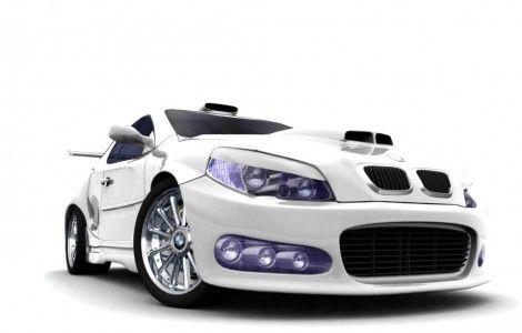 Awesome Art 3d Car White Color Desktop Hd Wallpaper Bmw Sports
