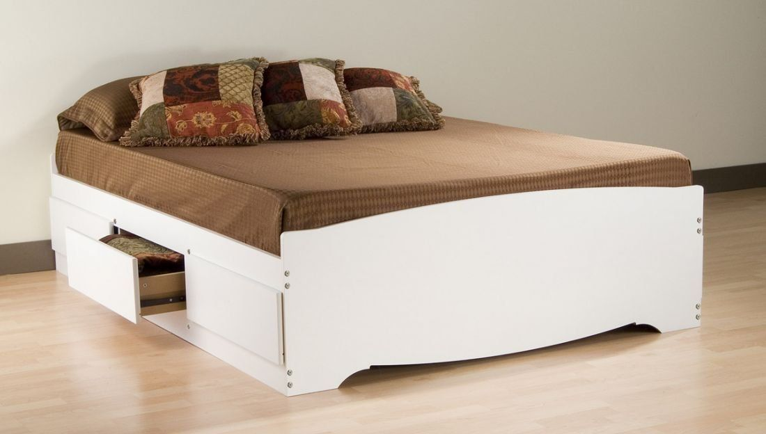 Decorating Beds Without Headboards Platform Bed With Drawers