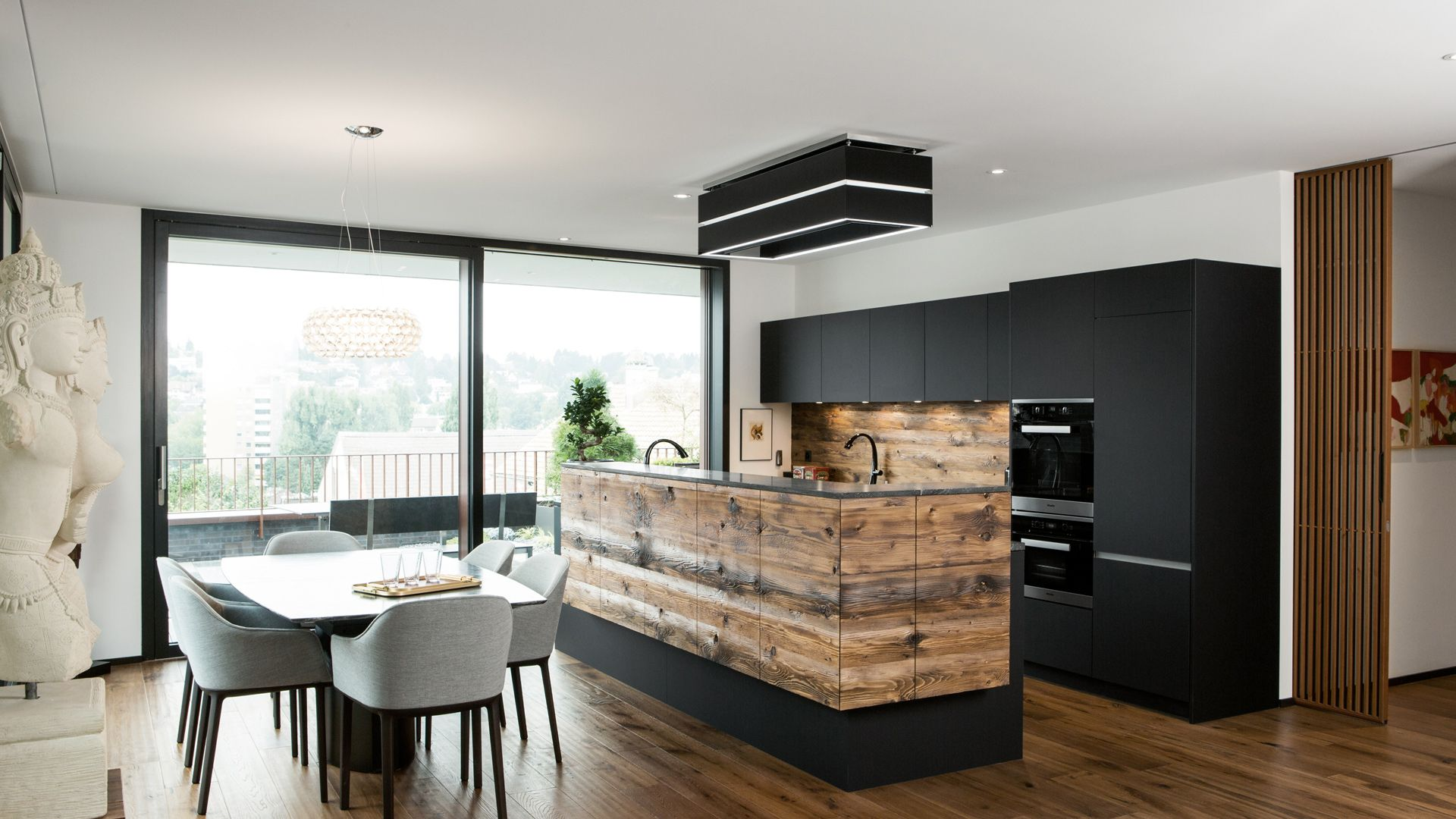 7 x 7 küchendesign küchendesign von elbau materialmix aus kunstharz und