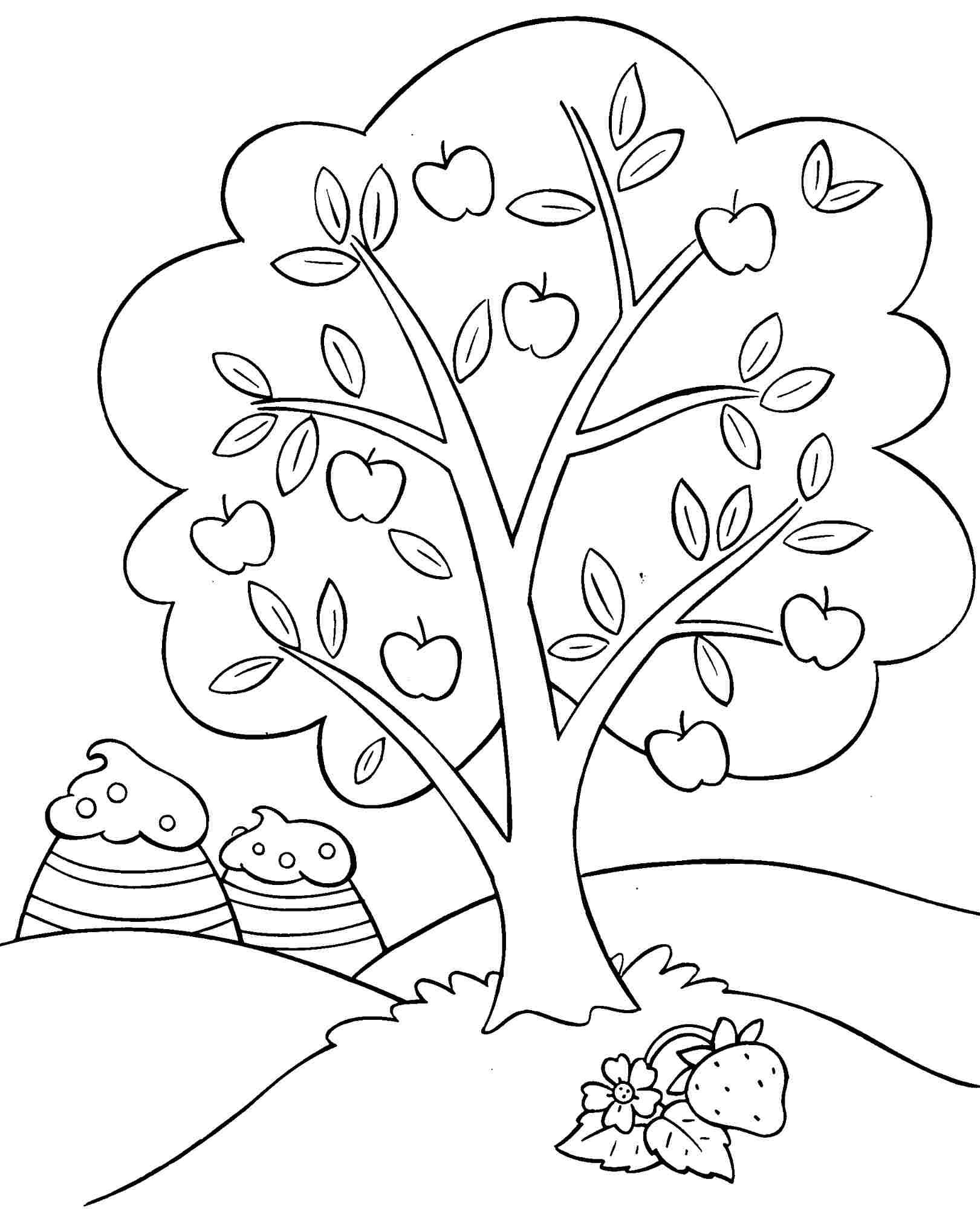 Coloring Pages Free Cartoon Strawberry Shortcake And Friends For ...