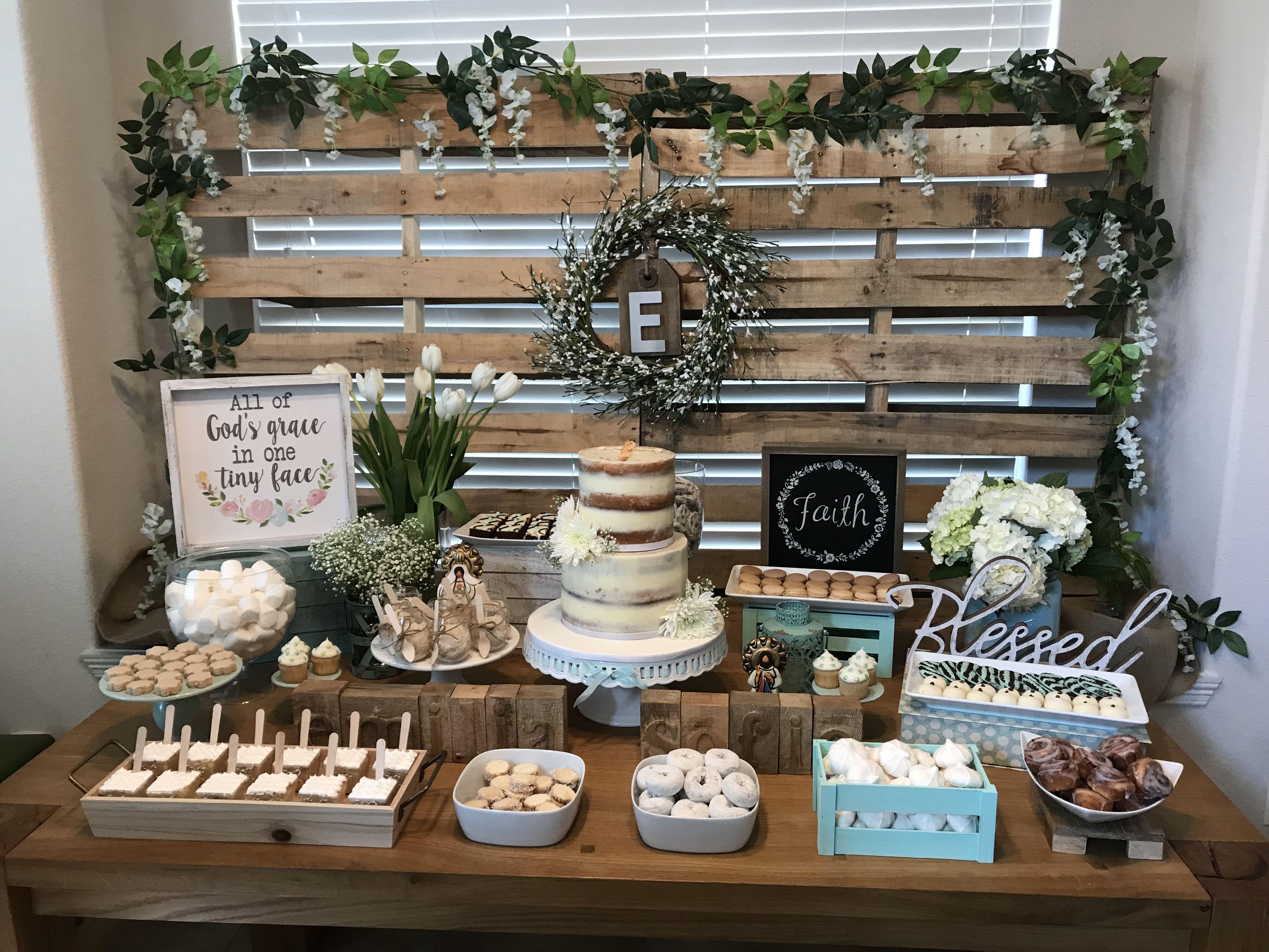 Shabby chic baptism party ideas – Artofit
