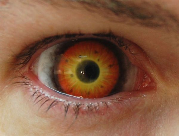 Dual color red and yellow for that fiery devil look this - Scary yellow eyes ...