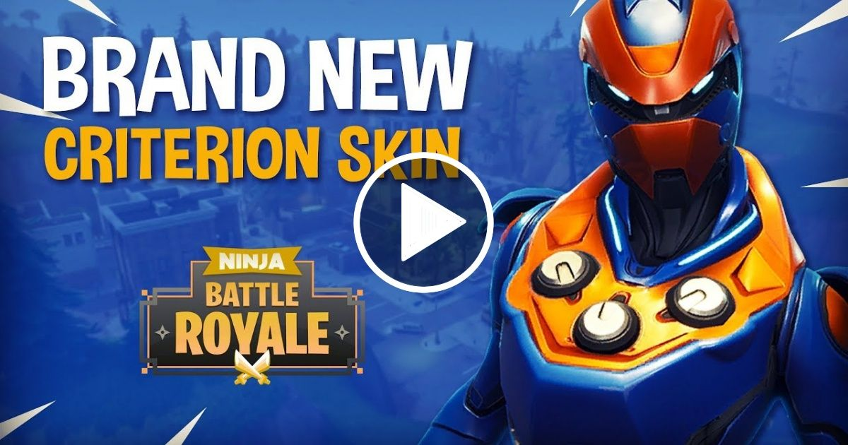 Brand New Criterion Skin Fortnite Battle Royale Gameplay