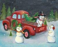 Framed Christmas on Wheels II Light