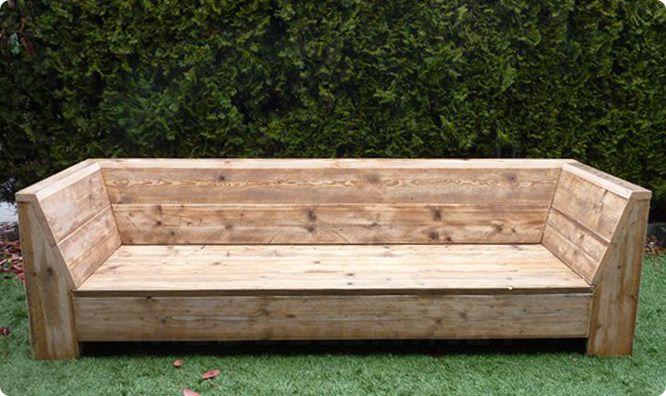 tuinbank maken - Google zoeken Diy Pinterest Bloques, Bancos y - como hacer bancas de madera para jardin