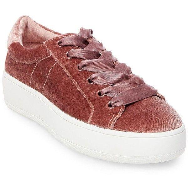 Steve Madden Bertie Velvet Low Top Platform Sneakers (510