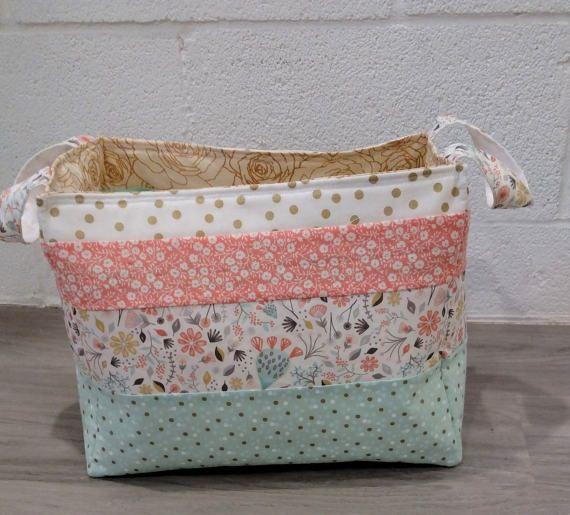 Fabric Storage Basket, Fabric Diaper Basket, Fabric Organizing Basket,  Fabric Cube Storage,