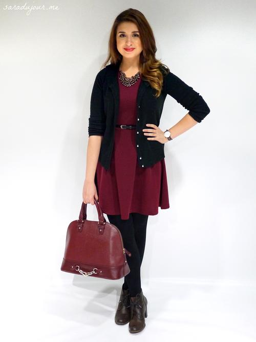 OOTD: Black & Burgundy • Sara du Jour | Clothes! | Pinterest ...