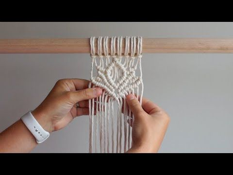 DIY Macrame Tutorial - Lotus Flower - YouTube #macrame