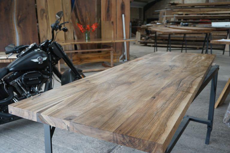 English walnut breakfast bar, desk, table top