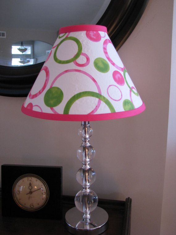 Pink And Green Lamp Shade By Zacharyorydock On Etsy 26 00