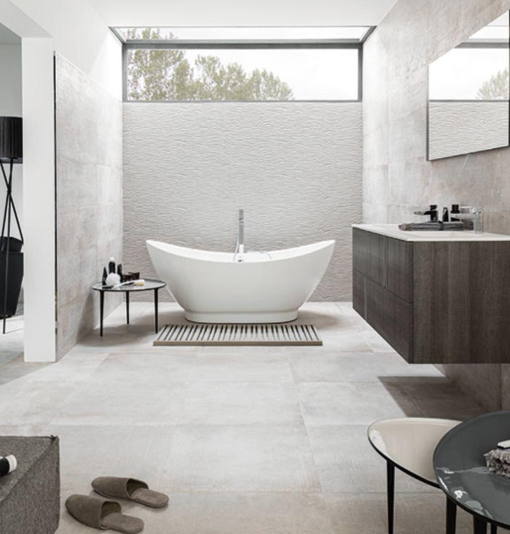 Porcelanosa Tiles For The Bathroom Wall Tiles Park Gray And Newport Gray Floor Tile Stone Tile Bathroom Grey Bathroom Tiles Contemporary Bathroom Designs
